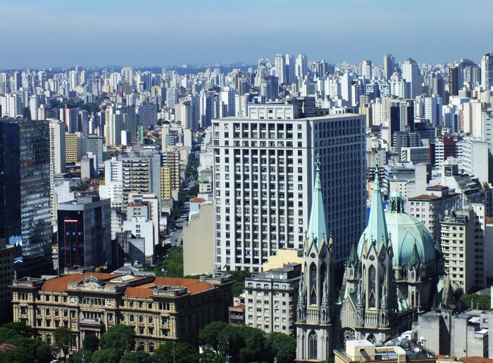 Foto van uitzicht over São Paulo