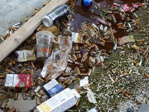 Foto van afval