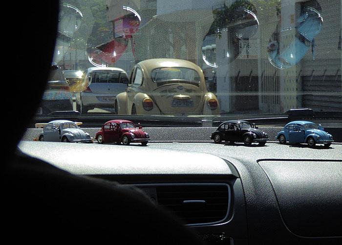 Foto genomen in taxi